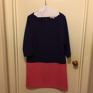 EUC Loft color block shift dress.
